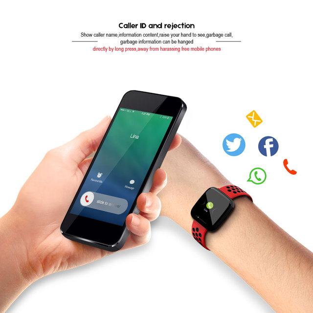 VERYFiTEK F15, Monitor Heart Rate, Blood Pressure, Sport Watch IP67 Waterproof for IOS or Android