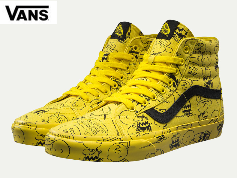 fc42252a5ba Vans SK8-HI Classic Skateboarding Shoes Unisex High-top Sneakers  PEANUTSSnoopy Cartoon Athletic Shoes Weight lifting shoes 36-44