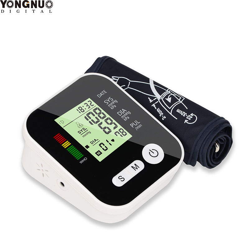 Digital Blood Pressure Monitor Medical Equipment Automatic Upper Arm Pulse Oximeter Home LCD Screen Memory Mode