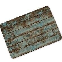 Felpudos de bienvenido Vintage dibujo de madera alfombrillas de goma antideslizantes alfombrillas de baño alfombrilla pasillo cocina Sala alfombras Baño