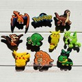 Free Shipping 60pcs Lot Pokemon PVC shoe decoration/PVC shoe charms/shoe accessories  for clogs