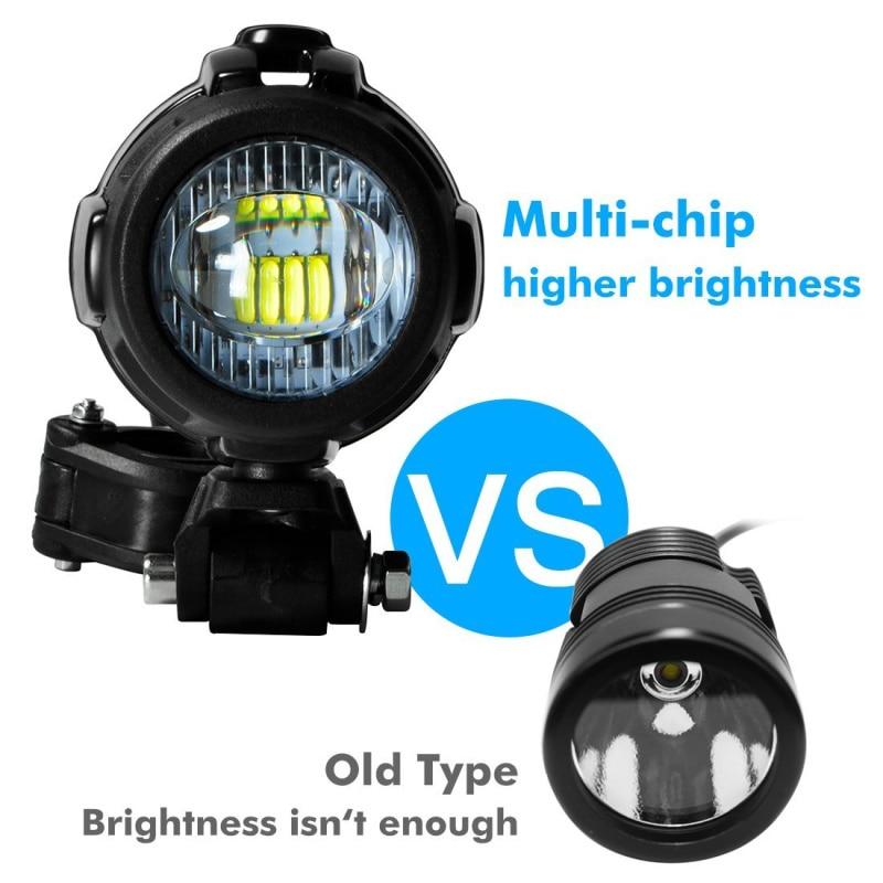 Feux antibrouillard de moto FADUIES pour BMW moto LED lampe de conduite antibrouillard auxiliaire pour BMW R1200GS/ADV K1600 R1200GS R1100GS - 2