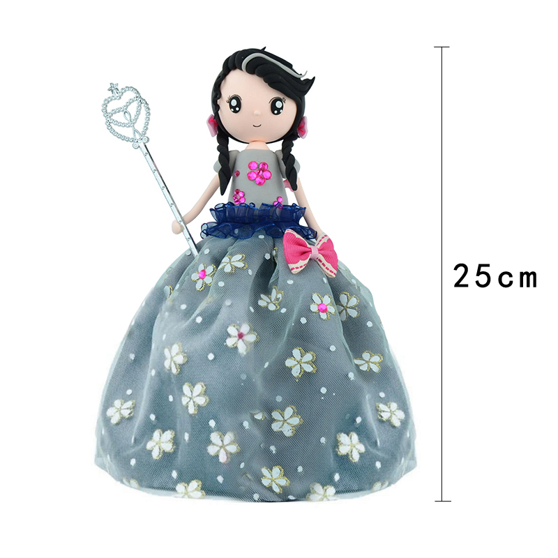Kit Slime DIY Slime Supplies Clay Set Soft Colorful Clay Western Princess Doll Girl's Christmas Gift Education Craft New Arrival
