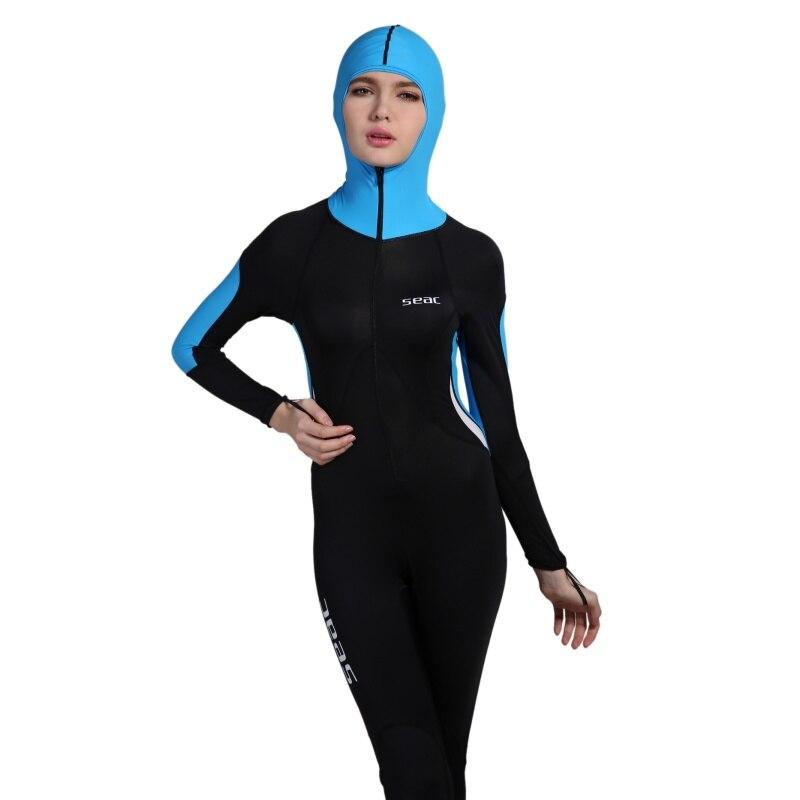 0.5mm Lycra Dive Wetsuit With Hat Women Surfing Jumpsuit Swimwear Wetsuit Rash Guards Water Sports Equipment New