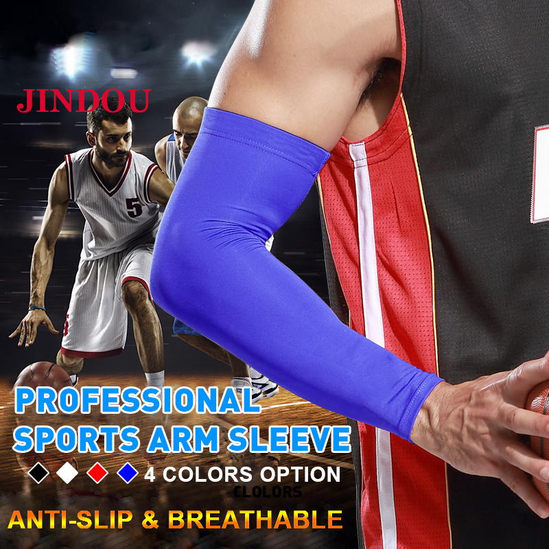 Running Running Arm Warmers 2pcs Running Arm Sleeve Anti-skid Arm Compression Sleeve Cycling Basketball Sun Protection Elbow Pad Arm Warmer Women Men