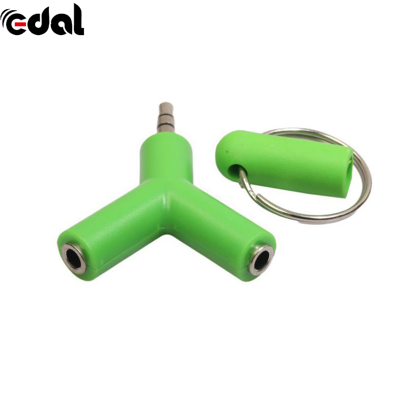 EDAL 3.5mm Headphone Male To Dual Female Audio Cables Headphone Splitter Adapter Plug Stereo Earphone Splitters foonbe y type 3 5mm headphone male to dual female audio cables headphone splitter adapter plug stereo earphone splitters