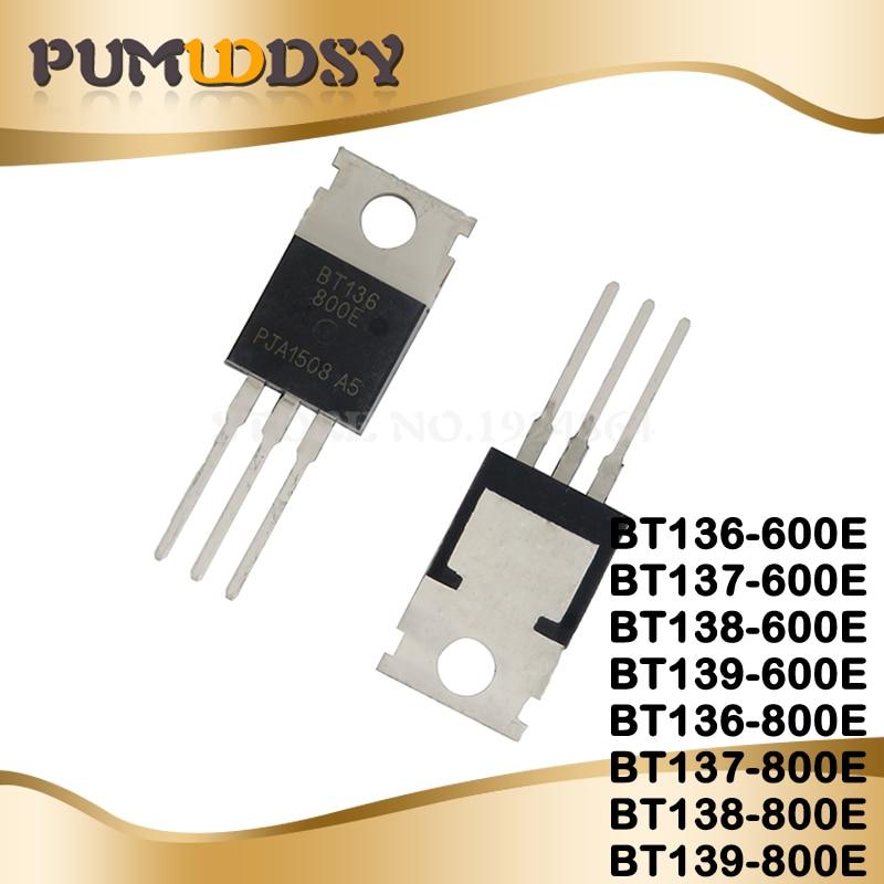 10PCS BT136-600E BT137-600E BT138-600E BT139-600E BT136-800E BT137-800E BT138-800E BT139-800E TO-220 BT136 BT137 BT138 BT139 IC