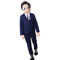 Wedding Boy Costume Blazer Trousers Shirts 3 PCS Child Boy Wedding Suit Spring Black Blue Children Formal Suit Dress Clothes
