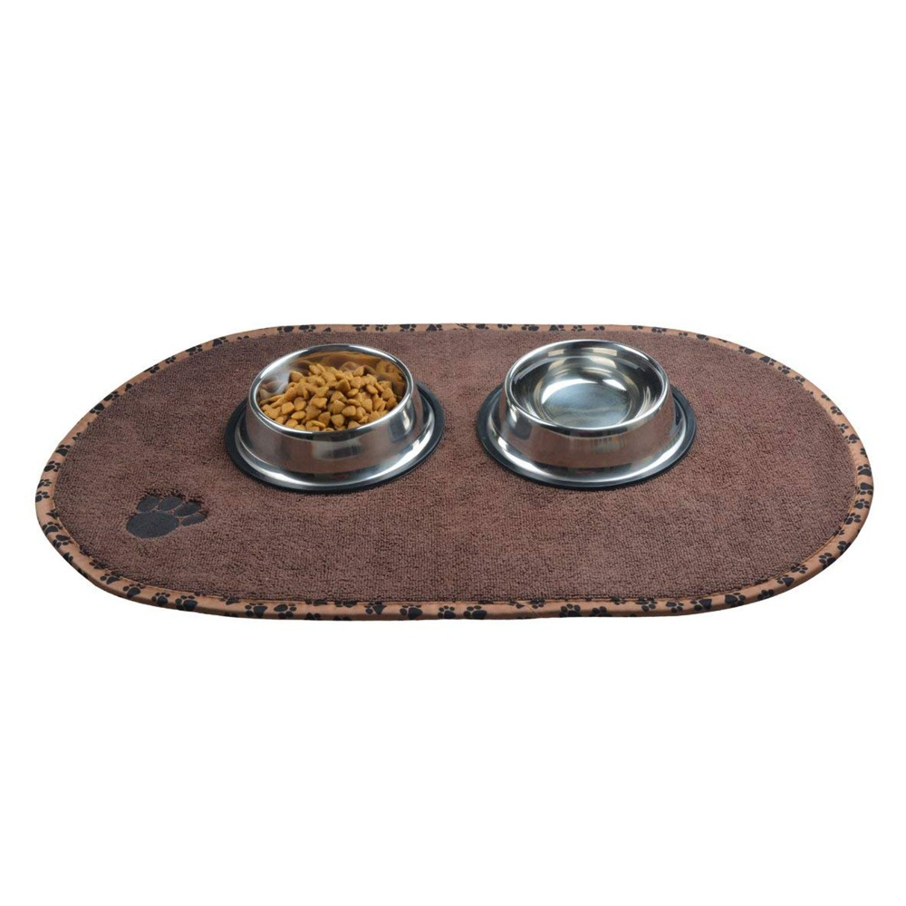 Sinland Microfiber Mat Pet Dog Cat Food Mat- ով `Paw Imprint Design - Ապրանքներ կենդանիների համար