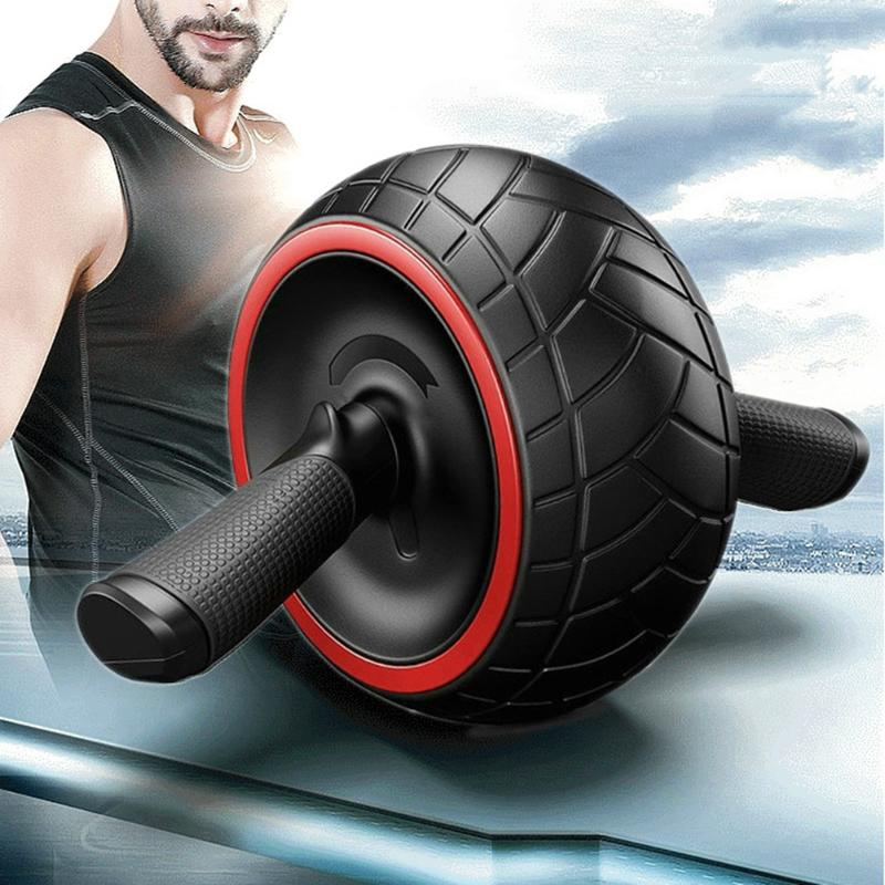 Abdominal Wheel Roller for Press Round Thin Waist Arm Roller Exercise Trainer Strength Mute Fitness Equipment Ab Rollers