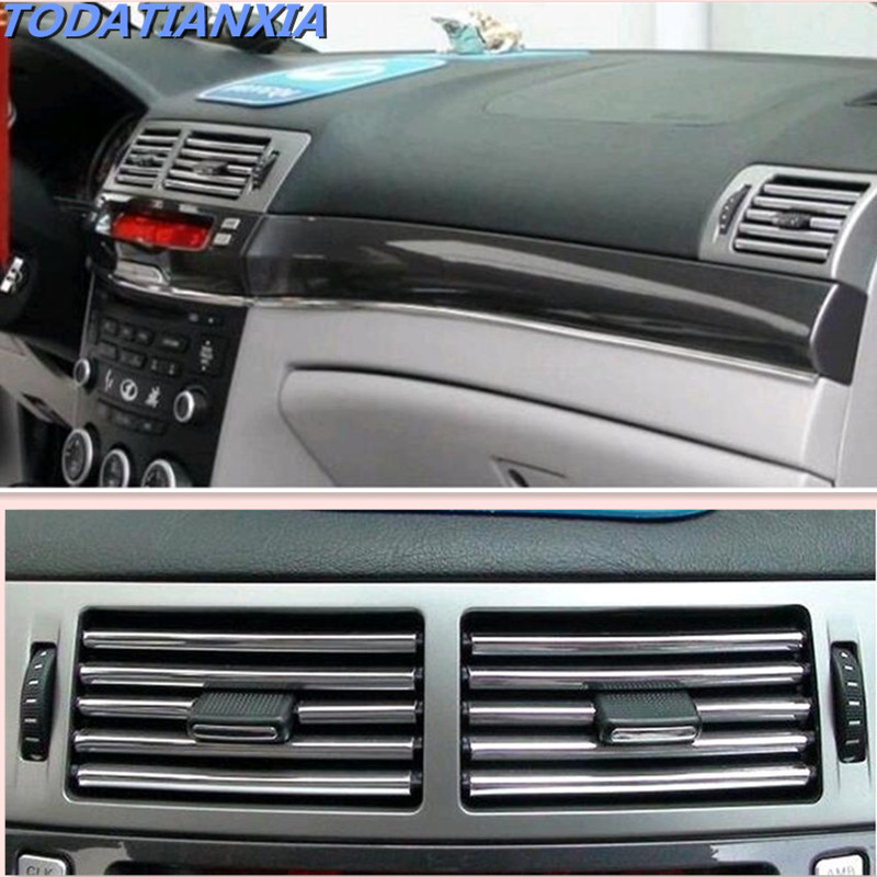 Car Interior Air Conditioner Outlet Vent Grille Chrome Decoration Strip For Renault Megane Astra Opel Zafira Skoda Octavia A7