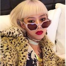 Luxury Cat Brand Design Hexagon Sunglasses Women 2018 Diamond Shap Vintage Gothic Sun Shades for Plus Size