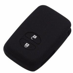 Image 3 - Jingyuqin מרחוק סיליקון מפתח Fob מקרה כיסוי מעטפת מחזיק עבור טויוטה RAV4 לנד קרוזר קאמרי הנצח פראדו פריוס 2 כפתורים