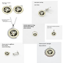 10PCS New Arrive High Quality Glass Pittsburgh Penguins Sports Team Earring Dangle Shoe buckle Necklace Ring Series Jewelry