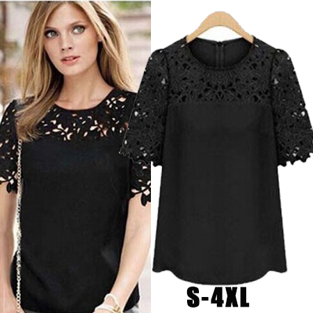 Aliexpress.com : Buy Yellow Black White S XXL XXXL 5XL Summer Tops ...