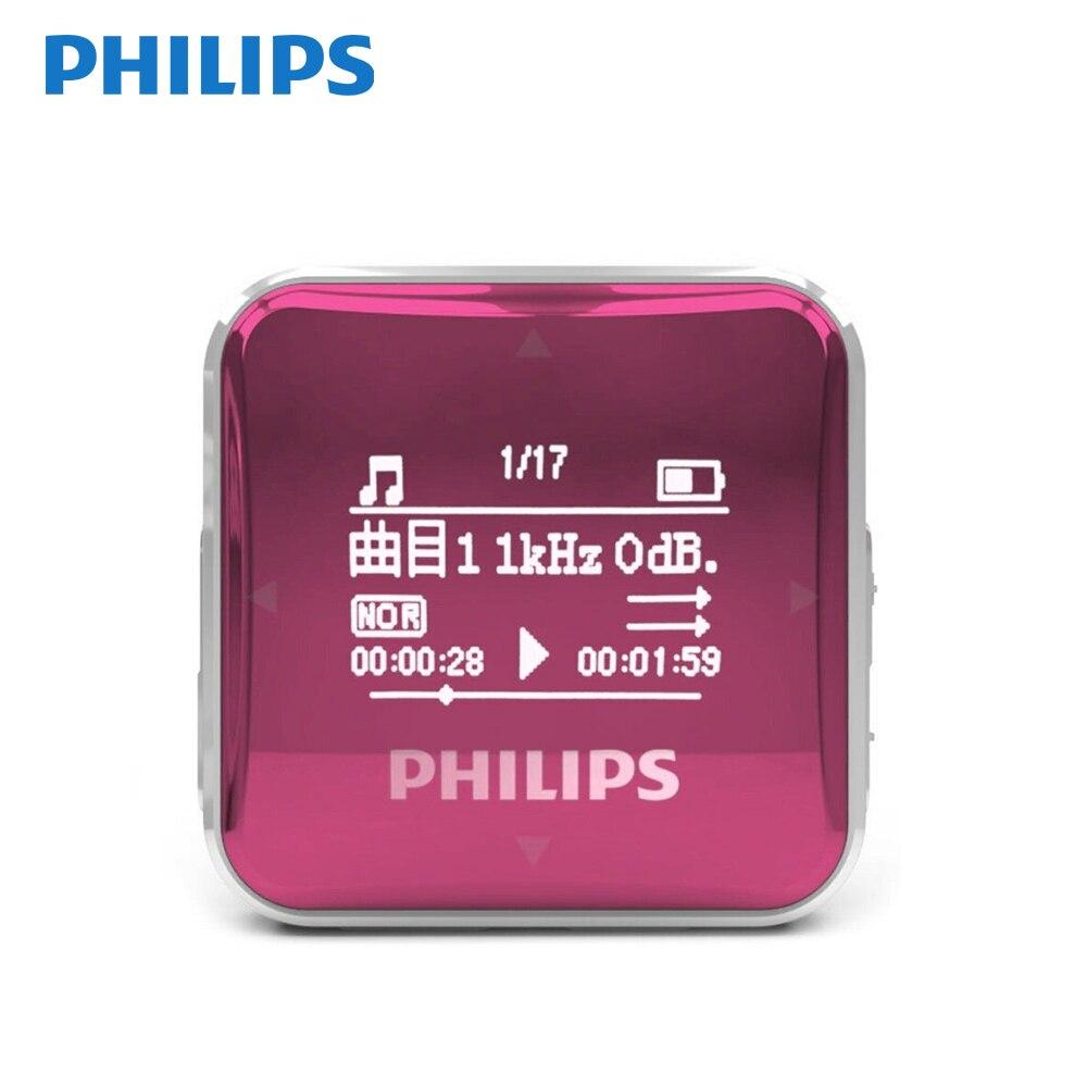 Date PHILIPS SA2208 MP3 Lecteur Sport Étudiants Mini FM baladeur d'enregistrement SA2208
