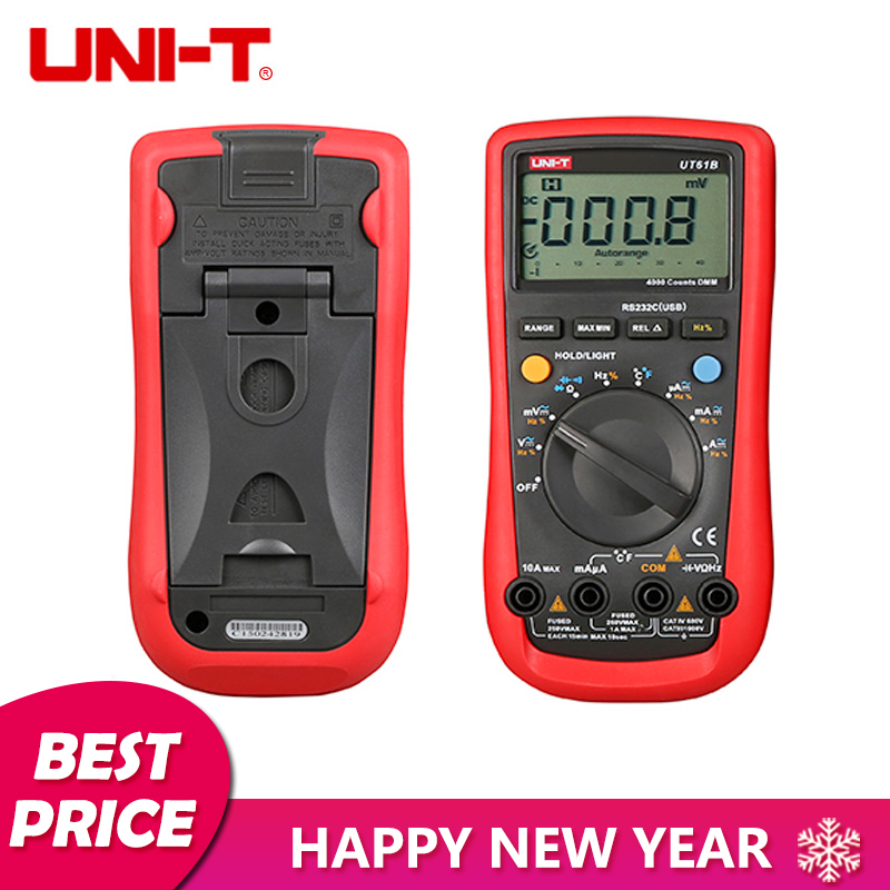 все цены на UNI-T UT61B Digital Multimeter LCD Backlight W/ Temperature Tester Auto Power Off Equipped With RS-232C