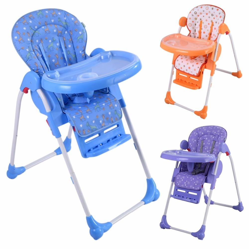 Trona de bebe silla comedor para ninos con bandeja ajustable plegable BB4544 pu taburete silla de oficina giratorio ajustable plegable ergonomica diseno hw51438