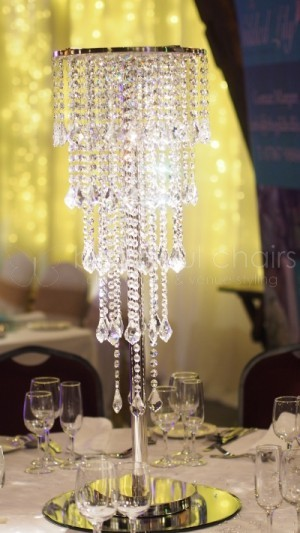 80cm Tall 5 tiers Crystal Table Centerpiece Wedding Decoration
