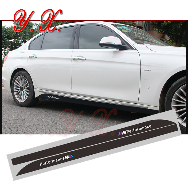 Car styling Reflective Stickers For BMW M Performance Logo Emblem For BMW E87 F20 F21 1 3 Series Side Skirt Sticker Accessories saunier duval thema classic f 21 e
