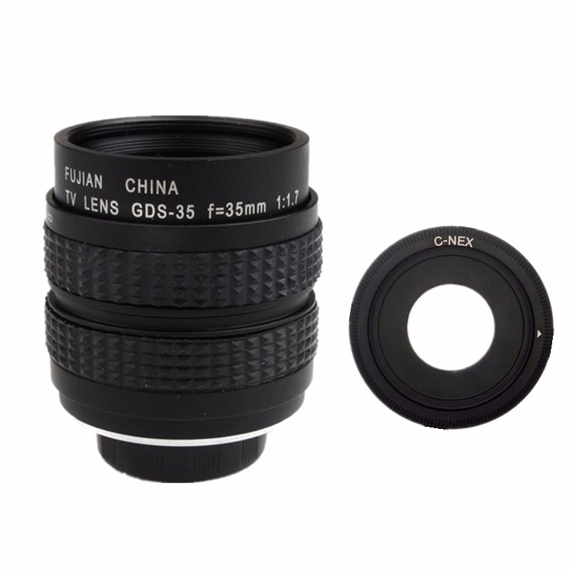 Fujian 35mm F1.7 CCTV TV Movie lens C Mount to Sony E:NEX3 NEX-C3 NEX-F3 NEX5 NEX5N NEX5R NEX5T NEX6 NEX7 A6000 A6300 A6500 image