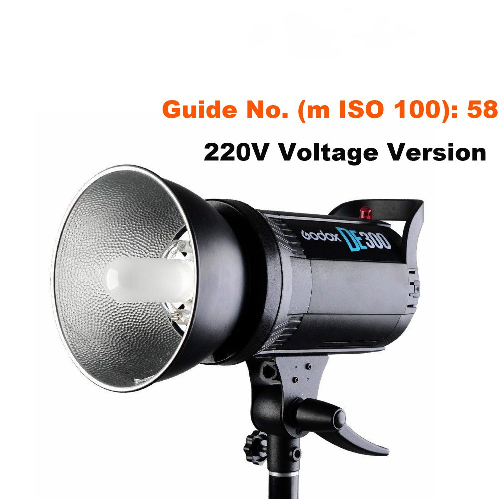 <font><b>Godox</b></font> DE300 300W Compact Studio Flash Light Strobe Lighting Lamp Head 300Ws 220V/110V GN58 5600K image