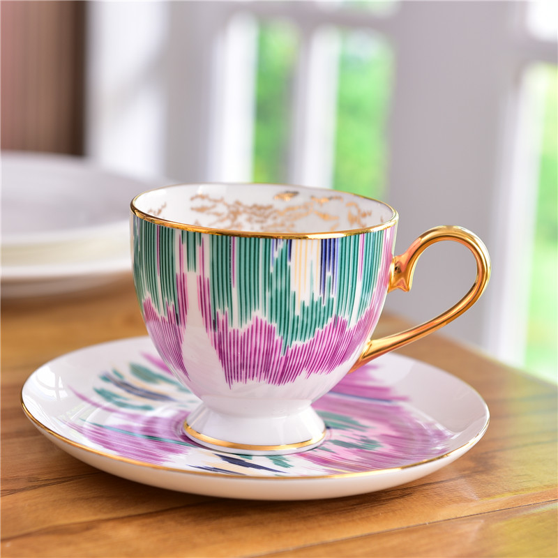 180 ml H Mark Roma Series Bone Porcelain Coffee Cups Ceramic Cups On glazed Advanced Tea Cups And Saucers Sets Luxury Gifts