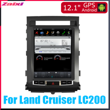 ZaiXi 12.1 Vertical screen android car gps multimedia video radio player in dash for Toyota Land Cruiser LC200 2008~2015
