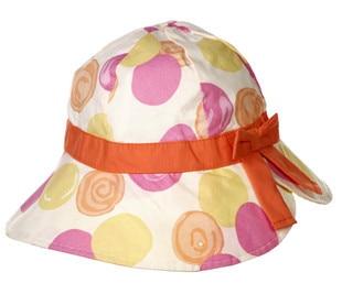 new summer kid little girls fashion colorful circle print cotton bucket beach hat children casual sun hats cap