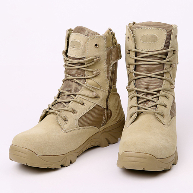 Favoloso Army Desert Hiking Boots Desert Tactical Military Boots Combat  WO36
