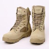 Exército Botas de Deserto Caminhadas Deserto Botas Botas de Combate Do Exército Tático Militar Botas De Homens Sapatos de Trabalho Ao Ar Livre Escalada Homens Botas