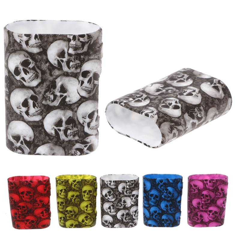 Skull Pattern Silicone Sleeve Case Protective Skin Cover For Istick Pico 75W Box