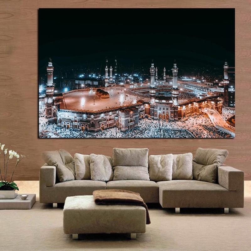 Moderne Pelegrinazhi Islam në Peizazhin e Natës së Xhamisë së - Dekor në shtëpi - Foto 5