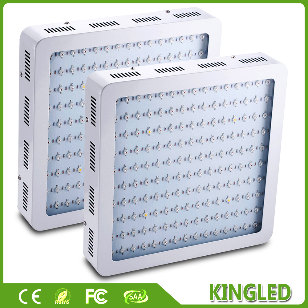 2PCS/lot White 900W LED Grow King LED Light Full Spectrum Best For Medical Plants Flowering And Growing Indoor Grow LED Lights