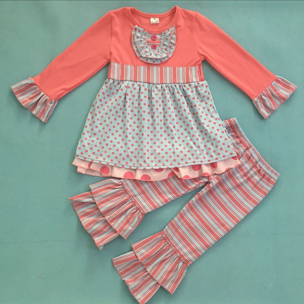 New Design Fall Winter Baby Pink Ruffle Tops and Pants Kids Outfit Mustard Pie Remake Boutique Girl Clothing F225 binod kumar and anil pandey genetic divergence and heterosis in indian mustard