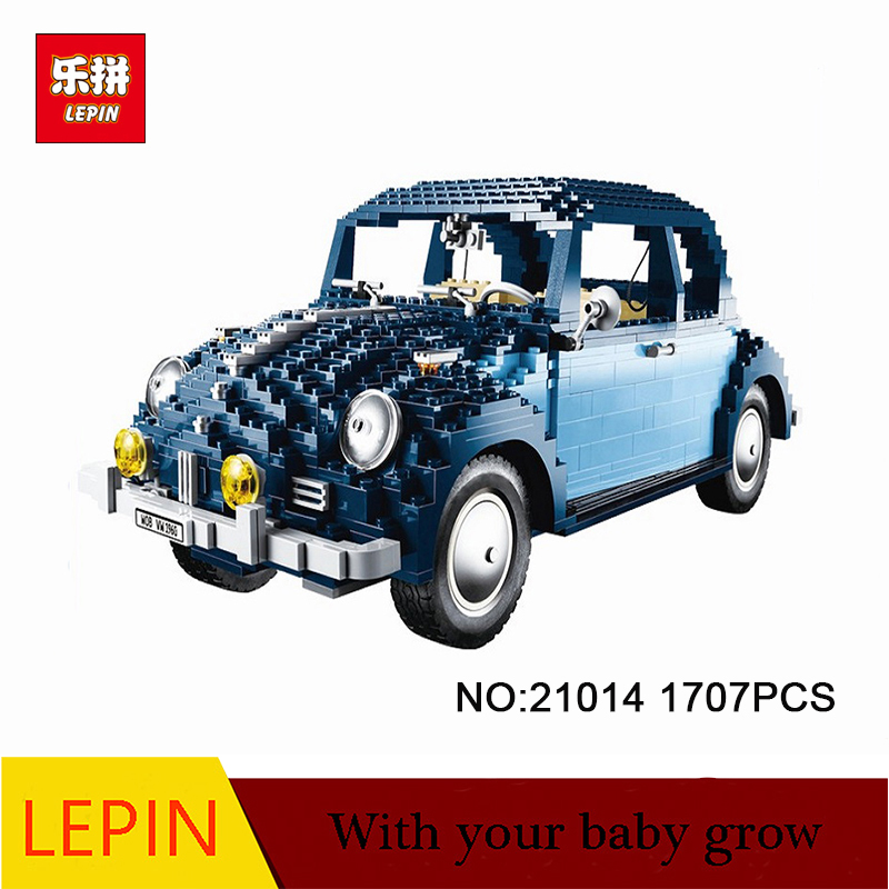 lepin architecture 21014 1707Pcs Technic Classic Series Ultimate Beetle Set Educational Building Blocks Bricks Toys Model 10187 1707pcs new lepin 21014 classic beetle model car building kits blocks bricks for children christmas gifts legoinglys 10187