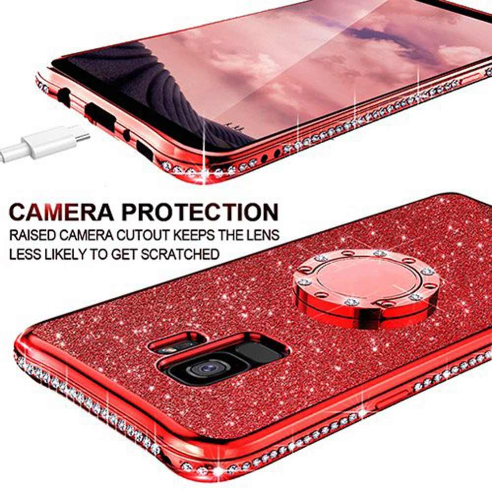 Soft TPU Case For Samsung Galaxy S10 S10e S8 S9 Plus S7 edge A5 A7 2018 A6 A8 Note 8 9 Plating Bling Diamond Silicone Back Cover
