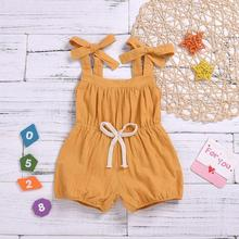 Newborn Kids Baby Girls Clothing Romper Sleeveless Summer