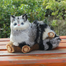 Popular Unique Home Decoration Artificial Lifelike Cat Figurine