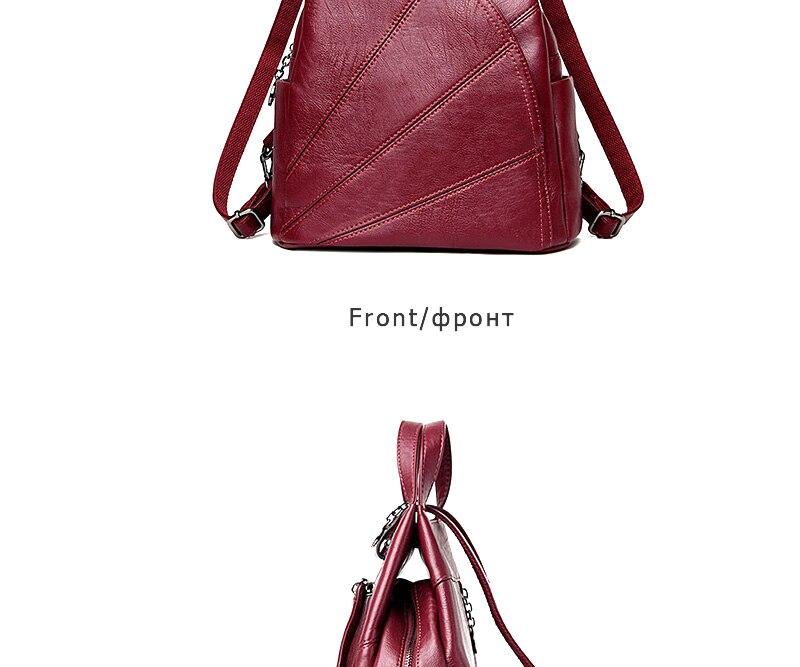 HTB1gCdJhWagSKJjy0Fgq6ARqFXa5 2019 Women Anti-theft Leather Backpacks Female Ladies Backpacks For School Retro Sac a Dos Femme Female School Shoulder Bags