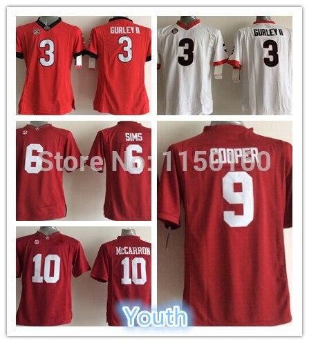 get cheap 2338c d070b US $27.53 |Kids Alabama Crimson Tide #9 Amari Cooper Youth Jersey Boys 3  Todd Gurley II 10 AJ McCarron Red White High Quality Sewn-in America  Football ...