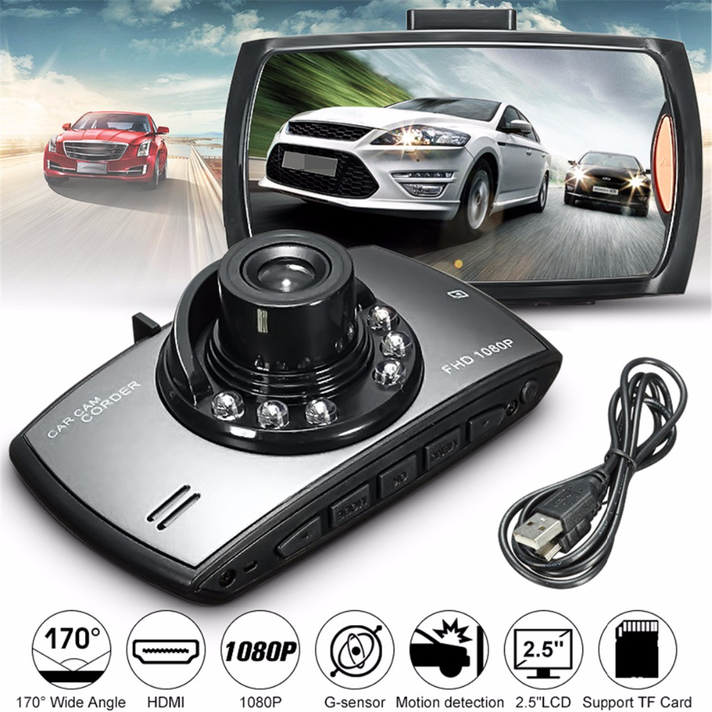 Camera Dash-Cam Intelligent IS Car LCD 1080P DVR Data-Recorder 170-Degree Wide-Angle
