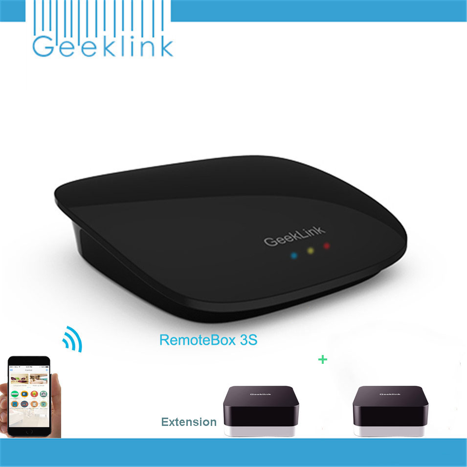 Geeklink RemoteBox 3S,Intelligent WiFi/IR/RF Smart Home Center,Support Extension & RF Light Switch,Remote Control by IOS Android