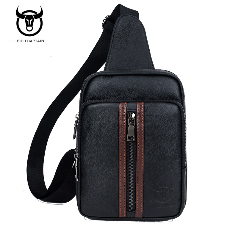 BULL CAPTAIN 2017 SMALL FAMOUS causal messenger bag MALE chest Crossbody Bag Fashion GENUINE Leather MEN Shoulder BAGS  #lianwen bull captain 2017 fashion genuine