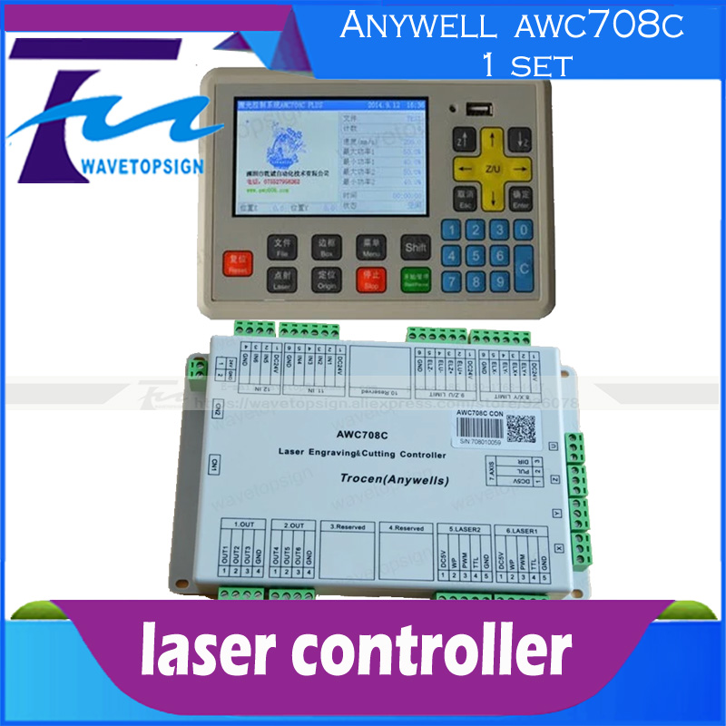 AWC708C controller Color screen  co2 laser engraving and cutting machine control card  цены