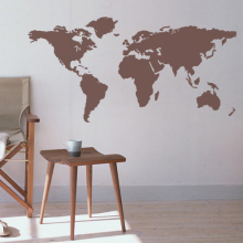 World Map Wall Sticker DIY Modern Of The Decals Decors M1