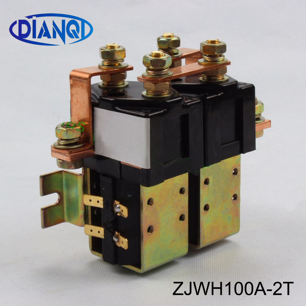 ZJWH100A-2T 2NO+2NC Voltage 12V 24V 36V 48V 60V 72V <font><b>100A</b></font> <font><b>DC</b></font> Contactor for forklift handling drawing wehicle car PUMP MOTOR SW88 image