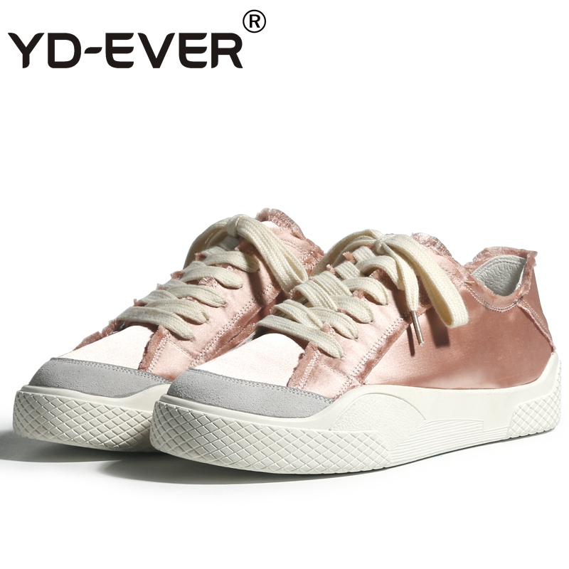 1777de0db6cc EVER fashion silk shoes sneakers spring travel women breathable wedge casual  shoes platform autumn shoes YD ...
