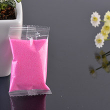 1 Bag Micro Landscape Sand To River Sea Fairy Garden Miniatures Terrariums Resin Crafts Figurines For Garden Decoration 6 Colors(China)