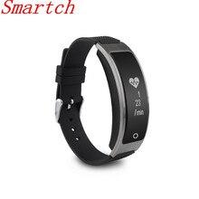 Smartch Новинка 2017 года Модель Смарт-фитнес-браслет часы браслет miband OLED Touchpad сна монитор сердечного ритма I8 Smart Band I8